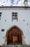 Eins der ältesten Gebäude in Klausenburg-Napoca Lizenzfreie Stockbilder