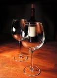 Eins mit Rotwein, man ist leer Lizenzfreies Stockbild