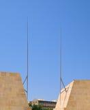 Eins von Valletta-Stadttoren Stockfoto