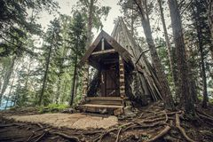 Einsame alte Hütte Stockfotos