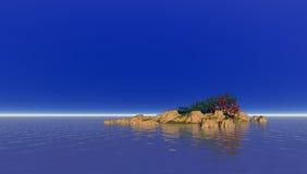 Einsame atlantische Insel stockfotografie