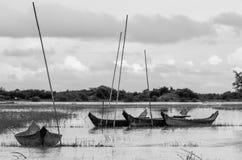 Einsame Boote Lizenzfreie Stockfotos