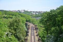 Einsame Eisenbahn Stockfotografie
