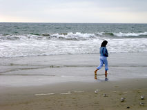 Einsame Frau lizenzfreies stockbild