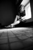 Einsame Frau Lizenzfreie Stockfotos