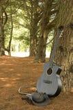 Einsame Gitarre Stockbilder