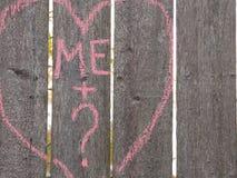 Einsame Herzgraffiti Stockfotos