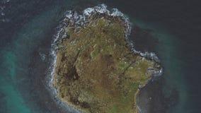 Einsame Insel mitten in Tjeldsund stock video