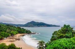 Einsame Küste und Meer Lizenzfreies Stockbild