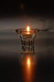 Einsame Kerze stockfotografie