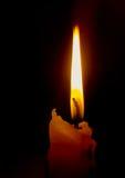 Einsame Kerze Stockbilder