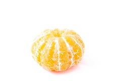 Einsame saubere Tangerine (Mandarine) auf weißem Hintergrund Lizenzfreie Stockbilder