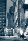 Einsame Stadtnacht lizenzfreie stockfotos