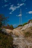 Einsame Straße in Dalmatien Stockbild