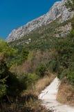 Einsame Straße in Dalmatien Lizenzfreie Stockfotografie