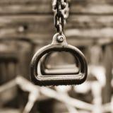 Einsame Trapeze-Ringe Lizenzfreies Stockfoto