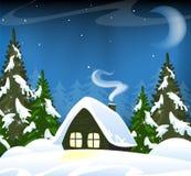 Einsame Waldhütte Lizenzfreies Stockfoto