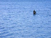 Einsamer Angler Stockbild