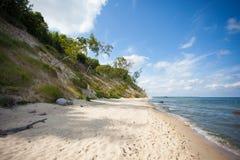 Einsamer baltischer Strand Stockfotos