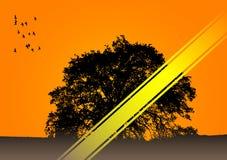Einsamer Baumvektor Lizenzfreies Stockbild