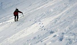 Einsamer Bergsteiger Lizenzfreie Stockfotografie