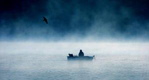 Einsamer Fischer Lizenzfreies Stockfoto