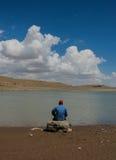 Einsamer Fisher Man Stockbild