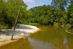 Einsamer Fluss Stockfoto