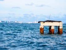 Einsamer Inselhafen Stockfotografie
