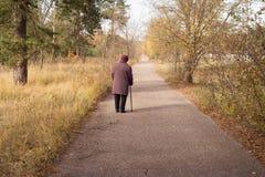 Einsamer Pensionär Lizenzfreies Stockbild