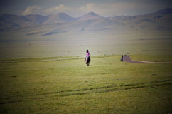 Einsamer Reisender Stockfotografie