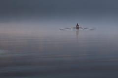 Einsamer Rower stockfotografie