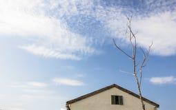 Einsamer Schlauch unter blauem Himmel Stockfotos