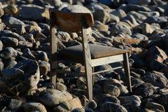 Einsamer Sitz Stockfoto