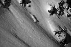 Einsamer Snowboarder Stockbilder