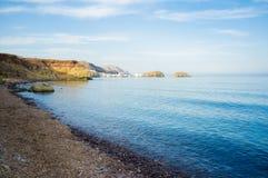 Einsamer Strand Stockfotografie