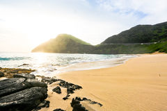 Einsamer Strand Stockfotos