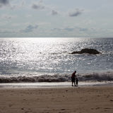 Einsamer Strand Lizenzfreie Stockfotos
