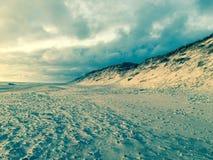 Einsamer Strand Stockfoto