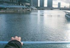 Einsamer Tag in Melbourne-Stadt Lizenzfreie Stockbilder