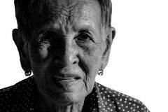Einsames älteres Frauenporträt Lizenzfreie Stockfotos