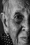 Einsames älteres Frauenporträt Stockbilder