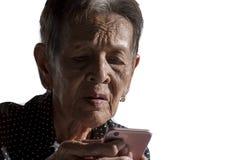 Einsames älteres Frauenporträt Lizenzfreie Stockbilder