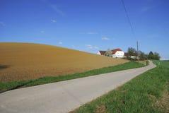 Einsames Bauernhofhaus Stockbild