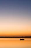 Einsames Boot stockfoto