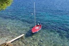 Einsames Boot Stockbild