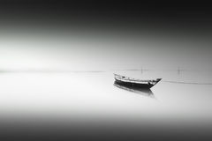 Einsames Boot Lizenzfreies Stockfoto