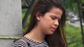 Einsames deprimiertes jugendlich Mädchen Lizenzfreies Stockbild
