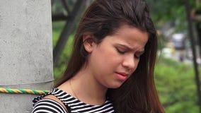Einsames deprimiertes jugendlich Mädchen Lizenzfreie Stockfotografie