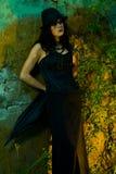 Einsames Goth Mädchen Stockbilder